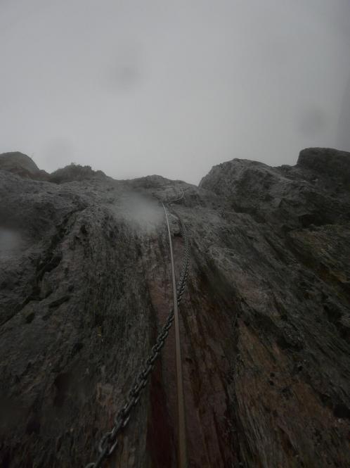 via ferrata du Ségudet à Ordino ... sous la pluie !