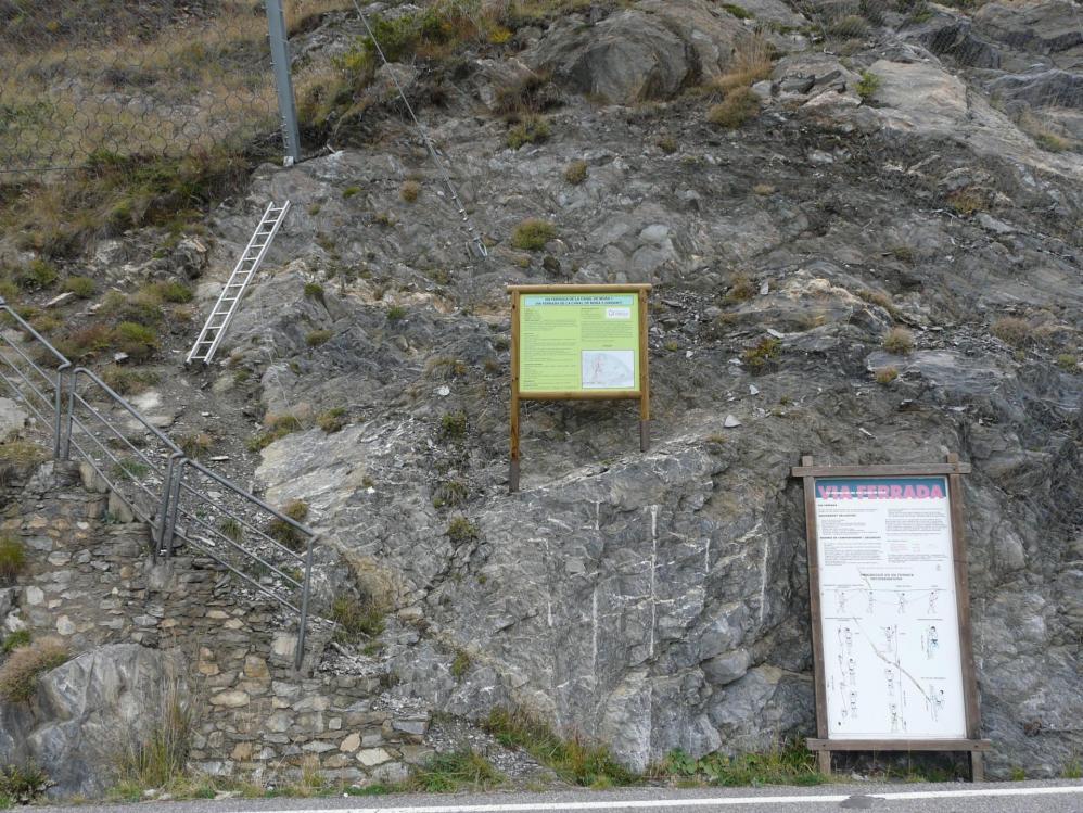 le départ des vias du Roc del Quer