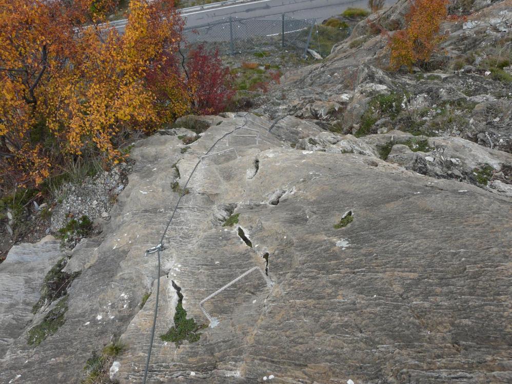 Directissima au Roc del Quer peu après le départ