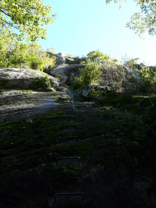 Première verticale dans le roc d'Esquers