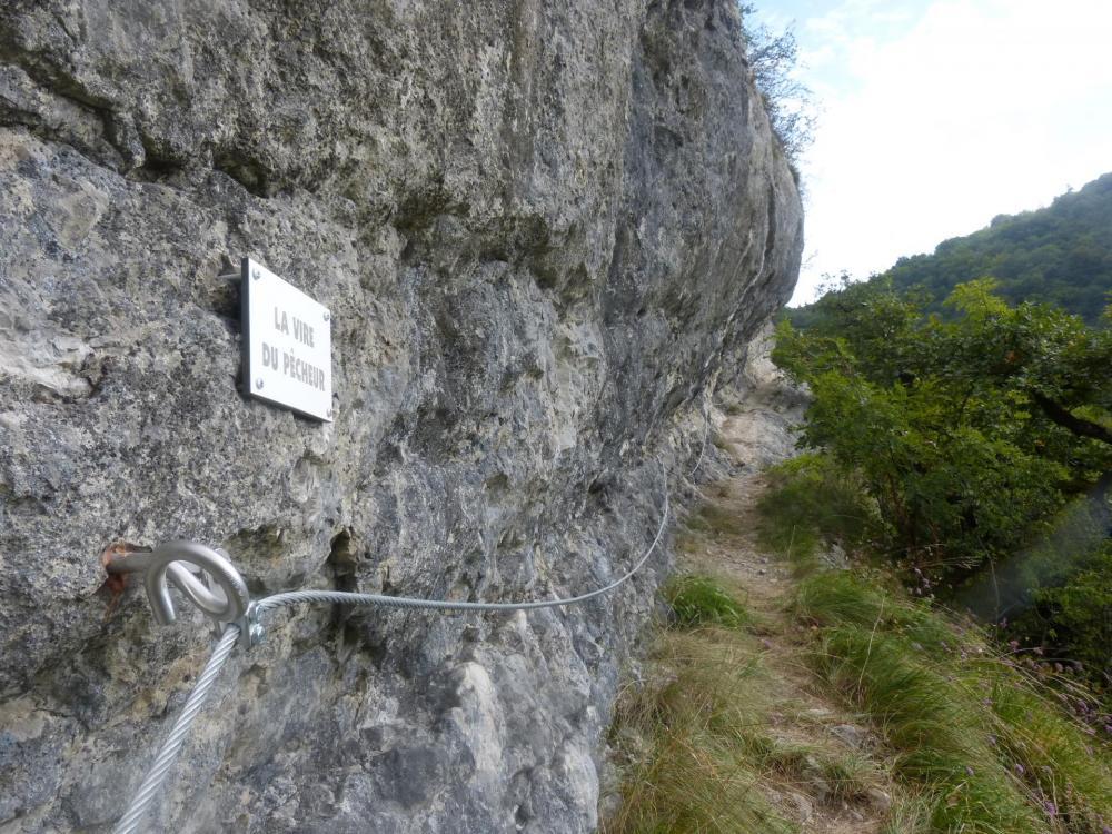 la vire du pêcheur à la via du rocher de l'Envers