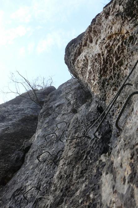 belle verticale au départ de la via de Charquemont