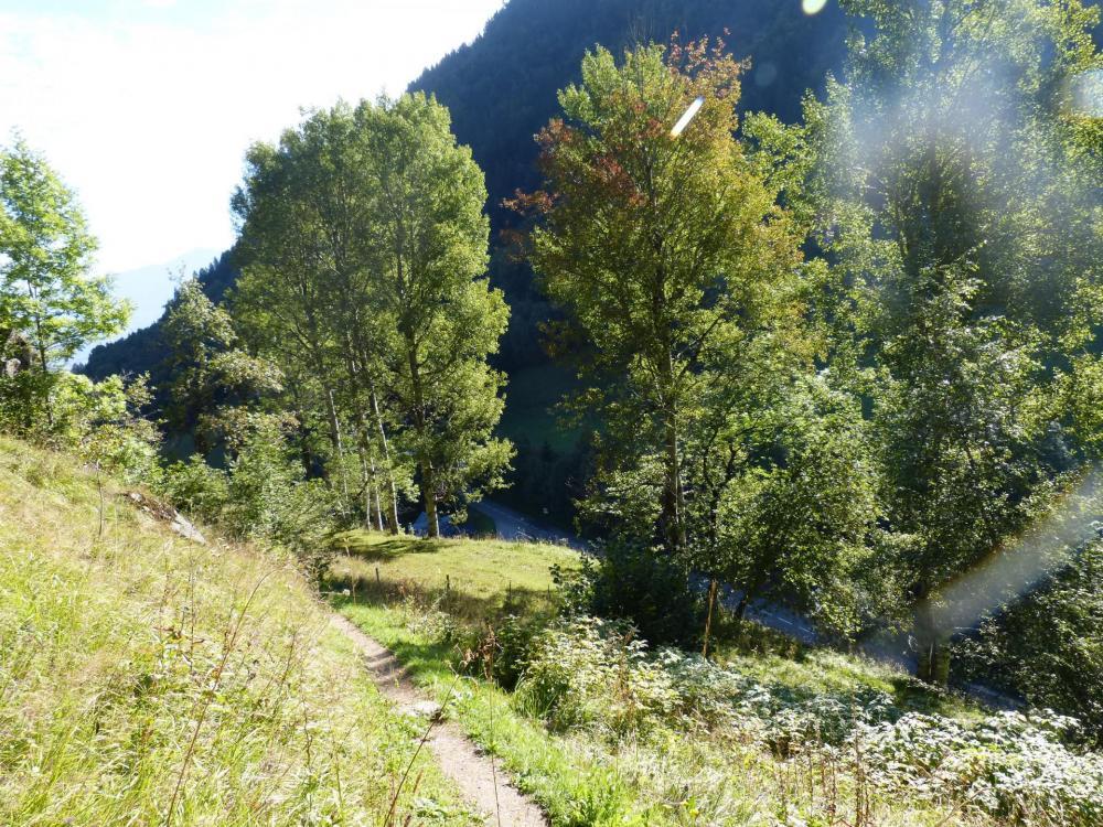 Départ du chemin d' accès à la via de la Chal