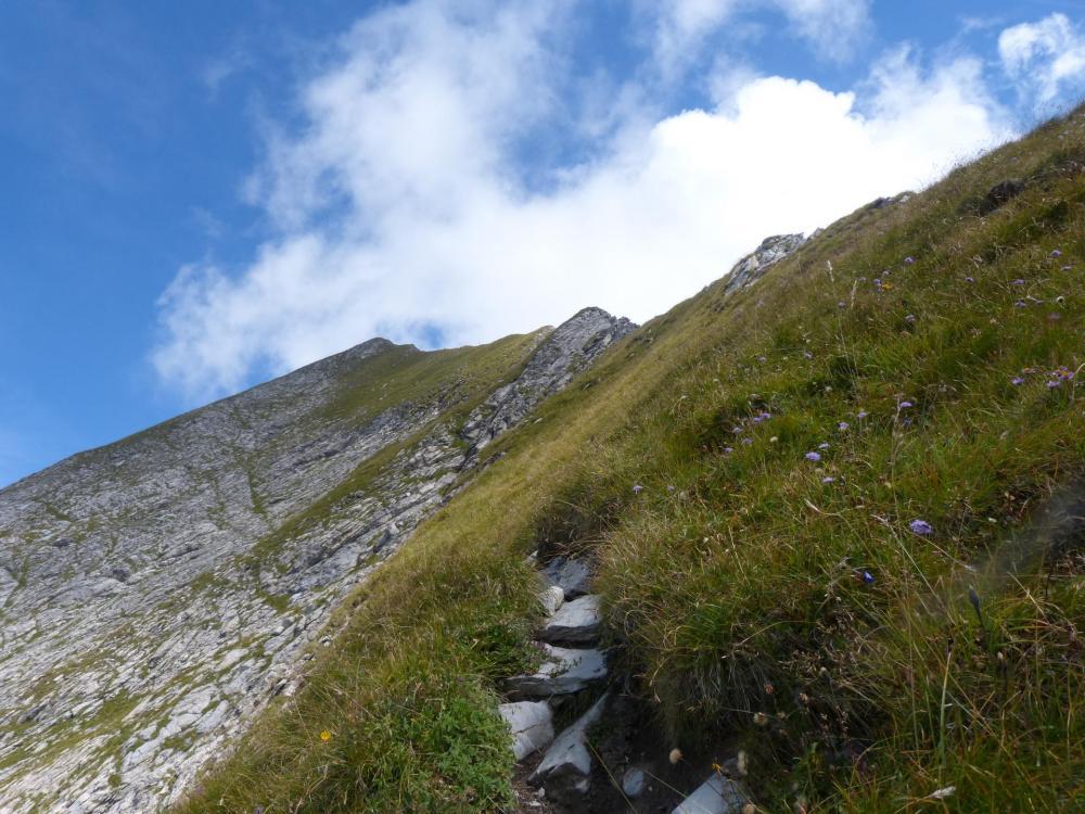 les dernières lignes de crêtes à franchir avant le mont Charvin ...