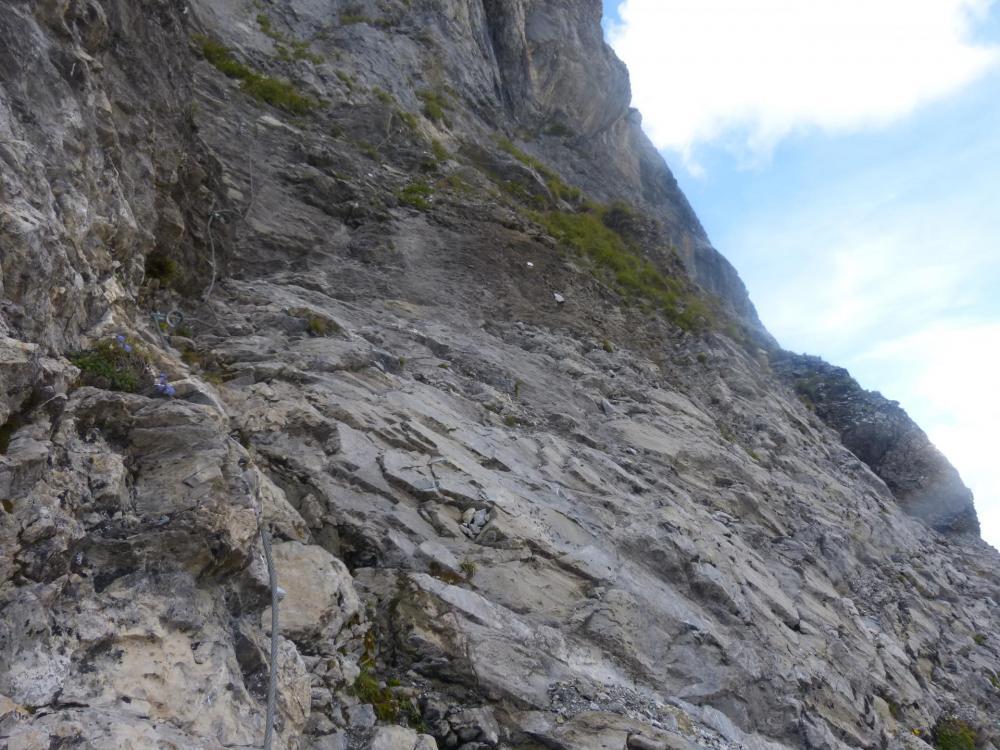 Ressaut final à descendre dans le Pas del' Ours