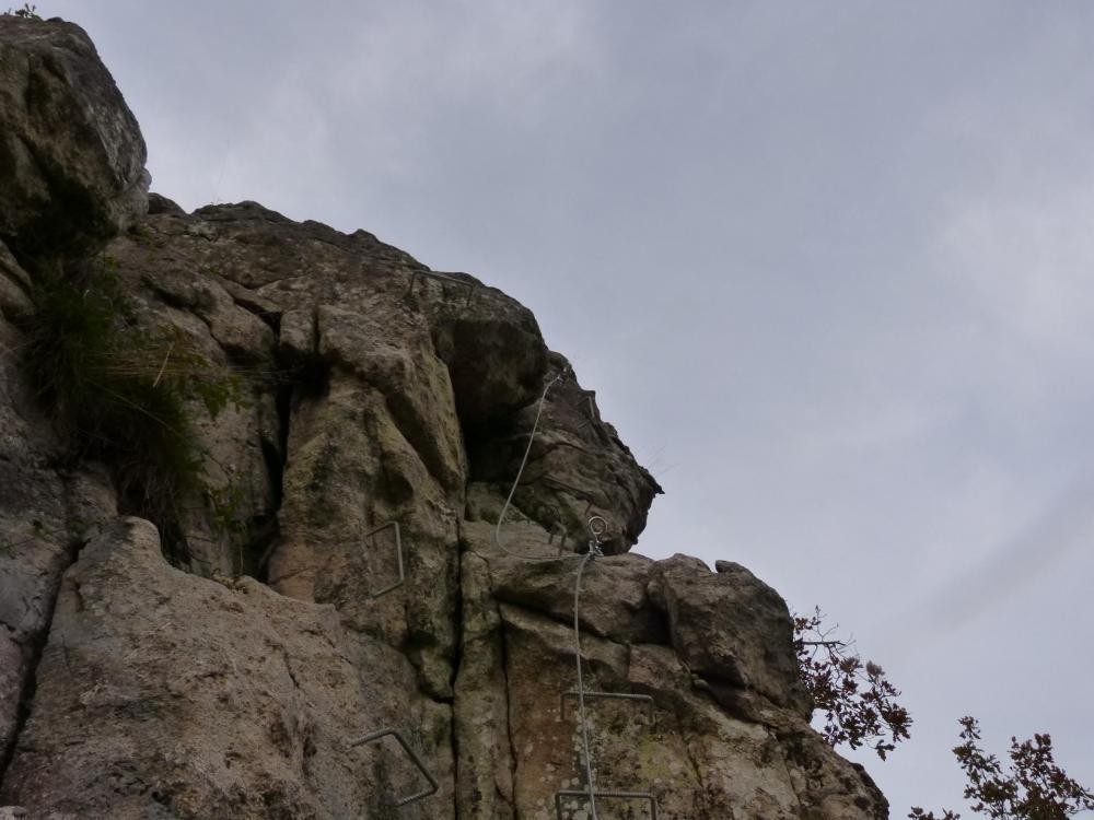 Le sommet de la tour à la via de la Dordogne