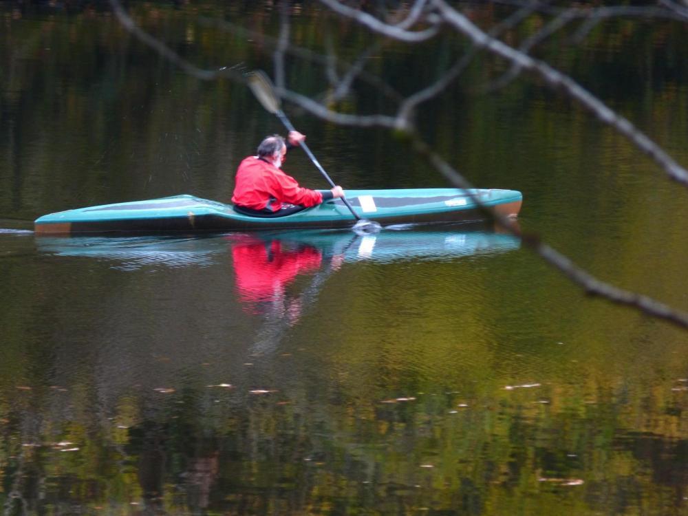 kayakiste en action sur la Dordogne !