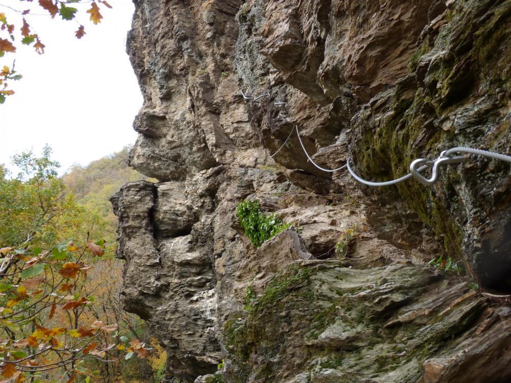 Départ de la via ferrata du Roc du Gorb