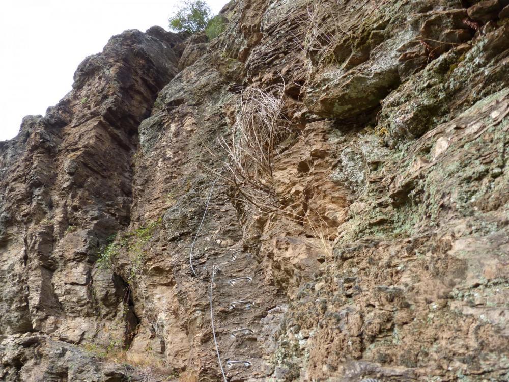 Première partie de la via ferrata du Roc du Gorb