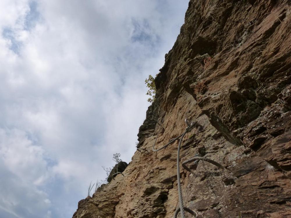 la partie terminale de la première partie de la via du Roc du Gorb