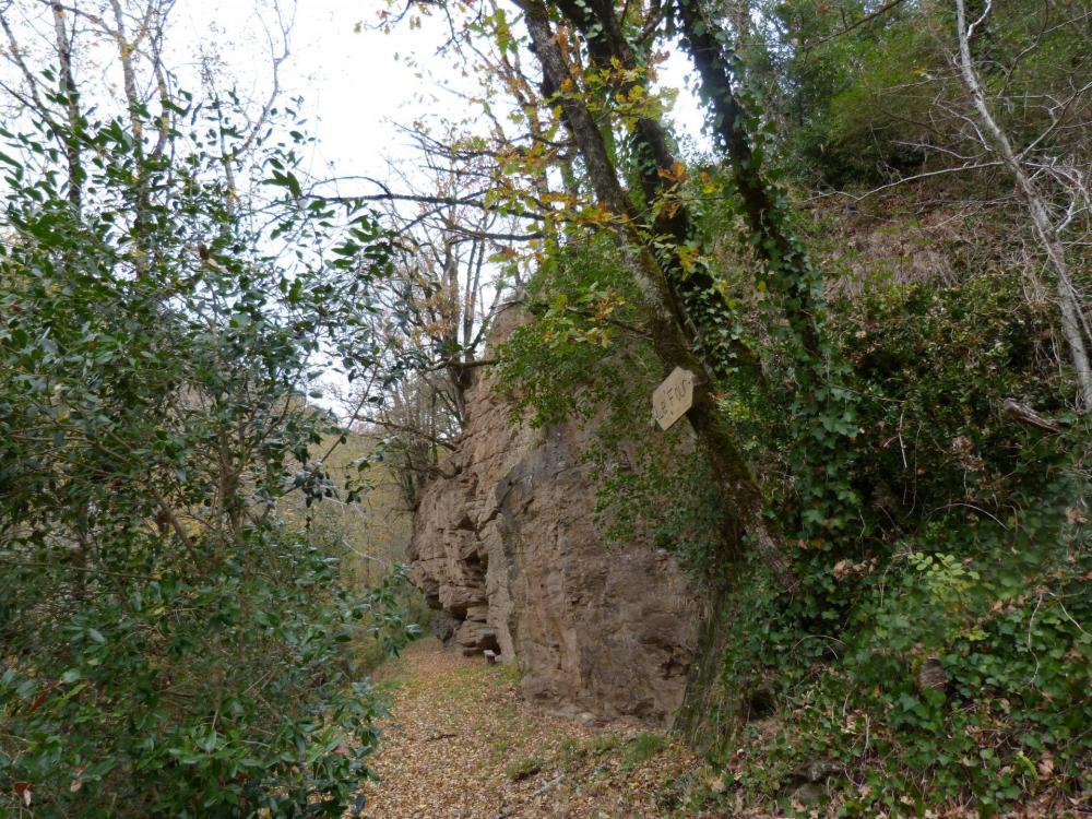Cheminement vers le départ de la tyrolienne à la via du Gorb