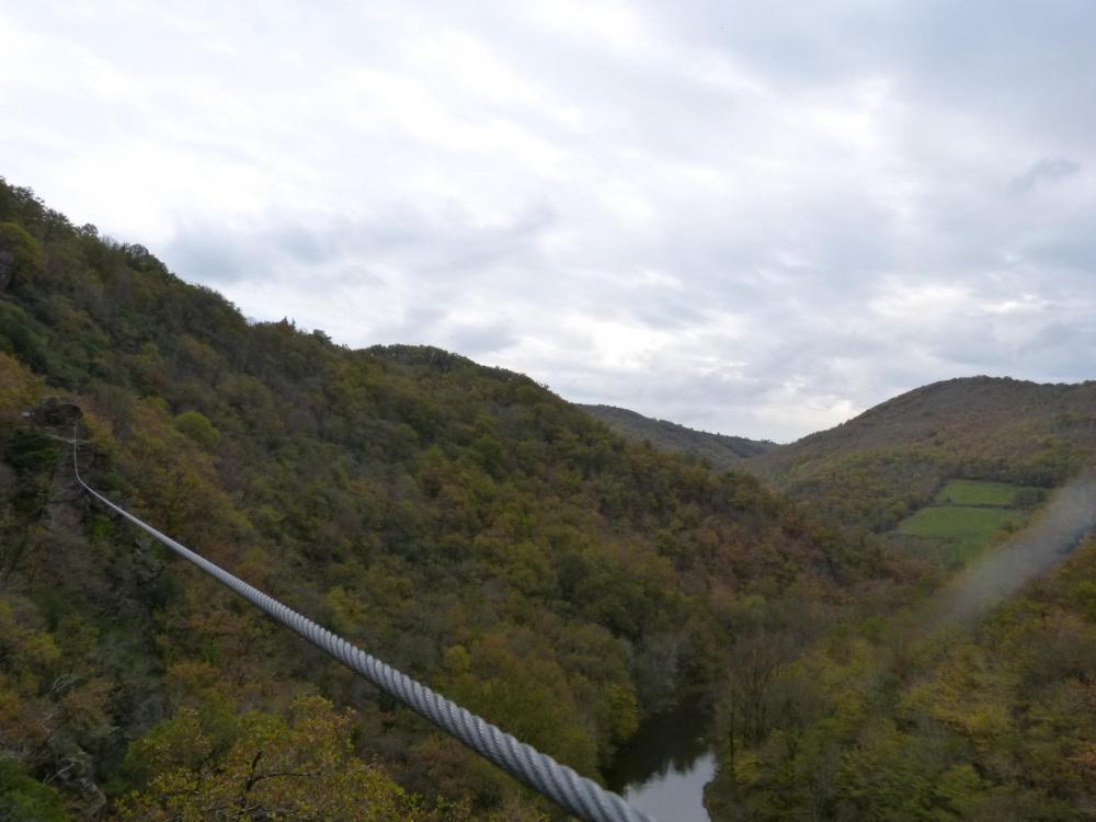 La tyrolienne de la via ferrata du Roc du Gorb