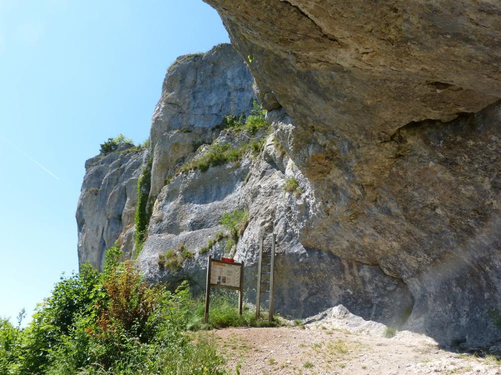 le départ de la via ferrata du Mont à Ornans