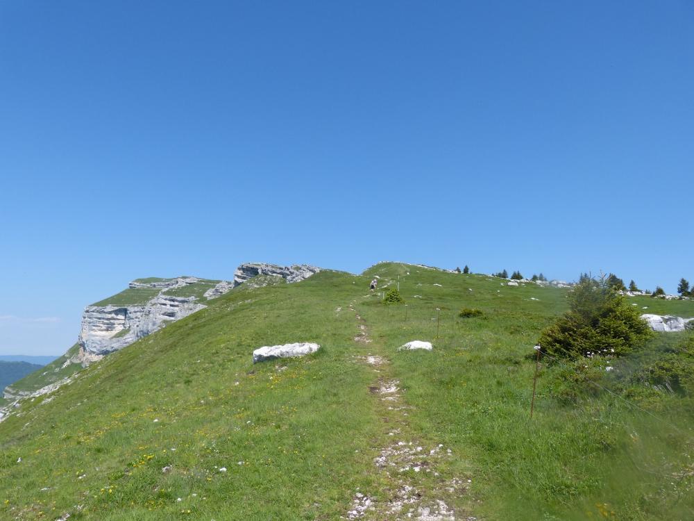 Vers le sommet du Margeriaz