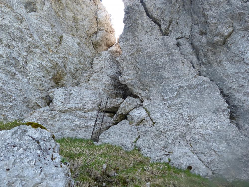 l' échelle de descente au Margeriaz côté Plainpalais
