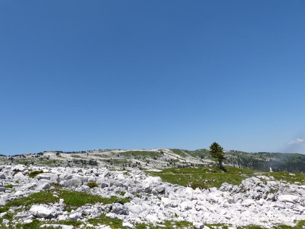 Le Margeriaz vu un peu plus bas sur le sentier des Glacières