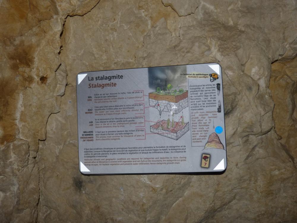 La génèse de la stalagmite !