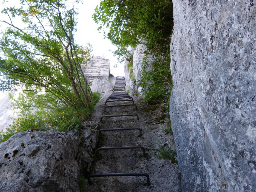 la montée ferrée du Roc de Tormery