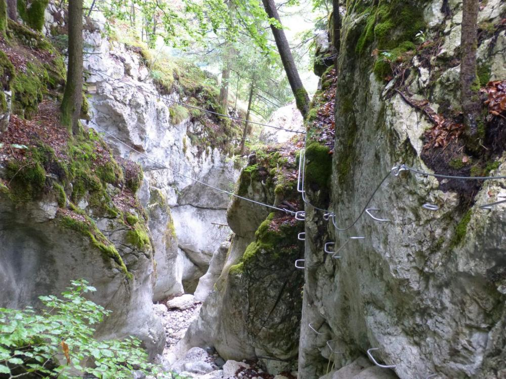 dernier tronçon de la via de la cascade des Nants