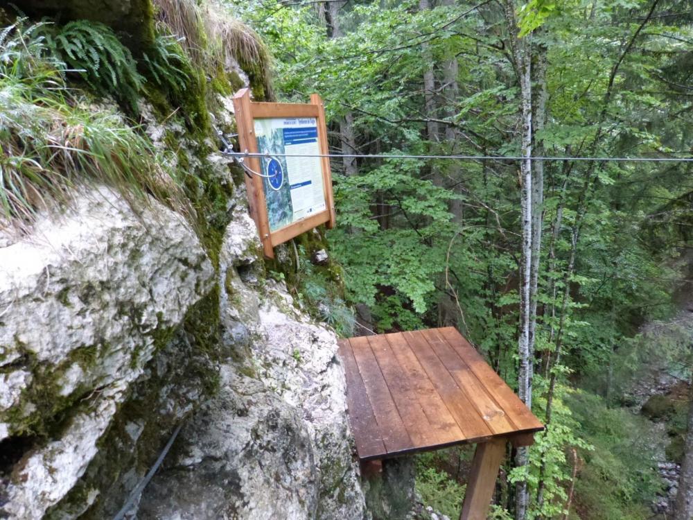 Départ de la tyrolienne de bellevaux