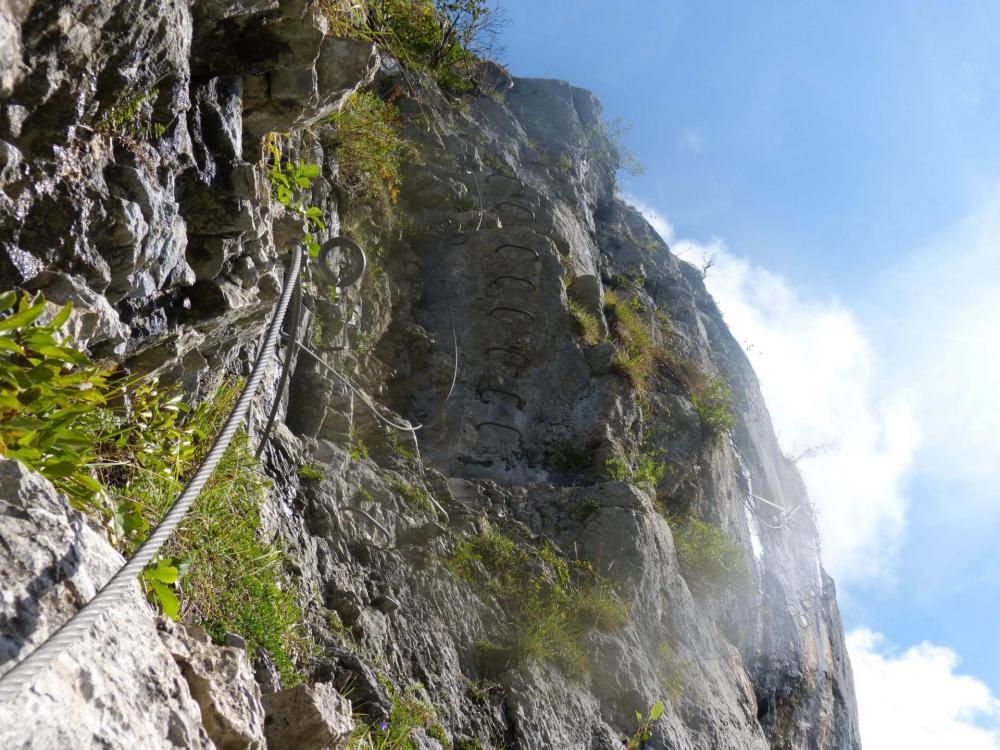 Un peu de verticale dans le tronçon du Cabri à La Chapelle d' Abondance