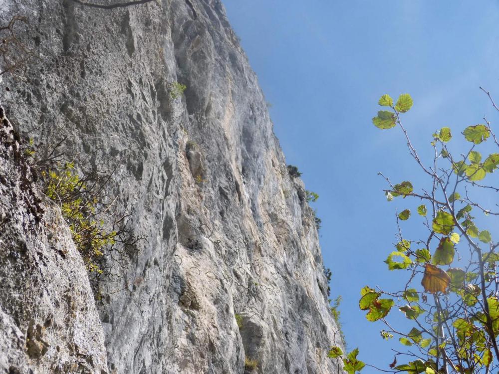 Le mur du Saix rouge, partie finale des Saix de Moliène