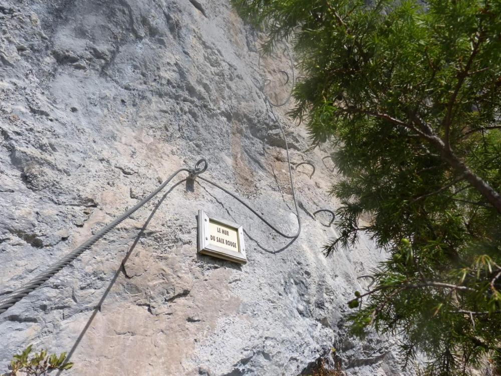 Saix de Miolène, au pied du mur du Saix rouge !