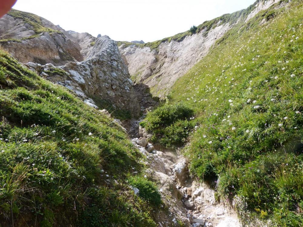 Sous le col des Saulces et le petit Mont Blanc, le paysage change et devient sévère !