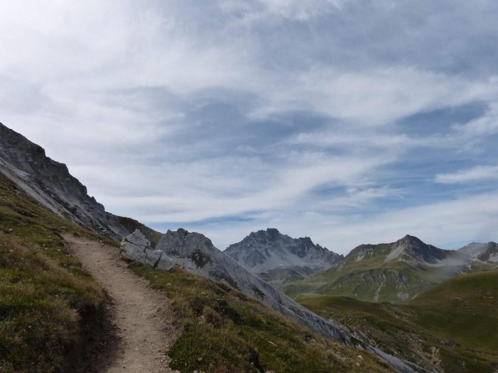 Plus très loin du sommet avec un paysage sublime !