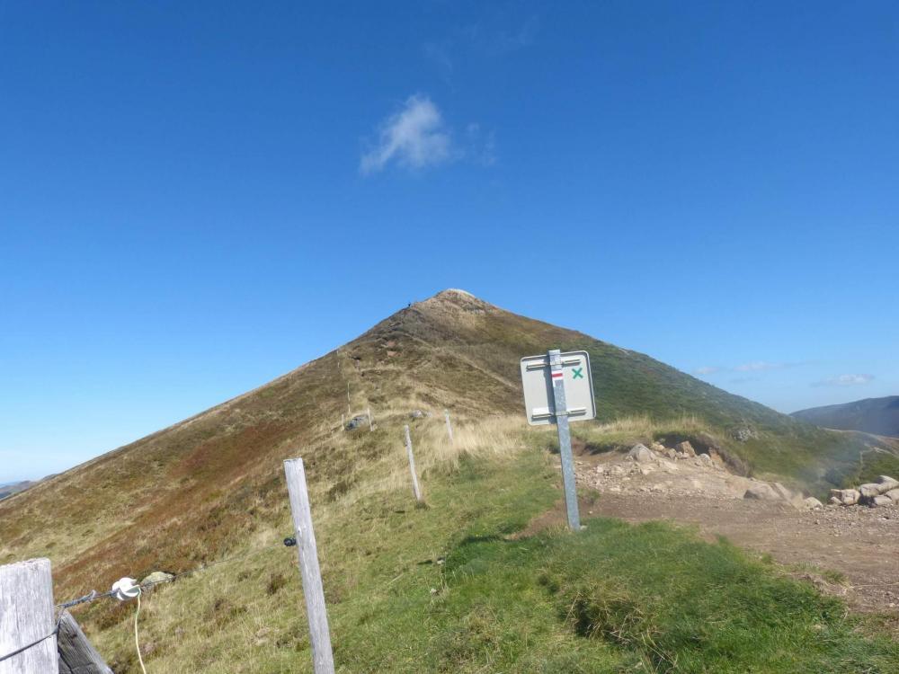 Le Puy de Peyre Arse, en direction du col de Rombière