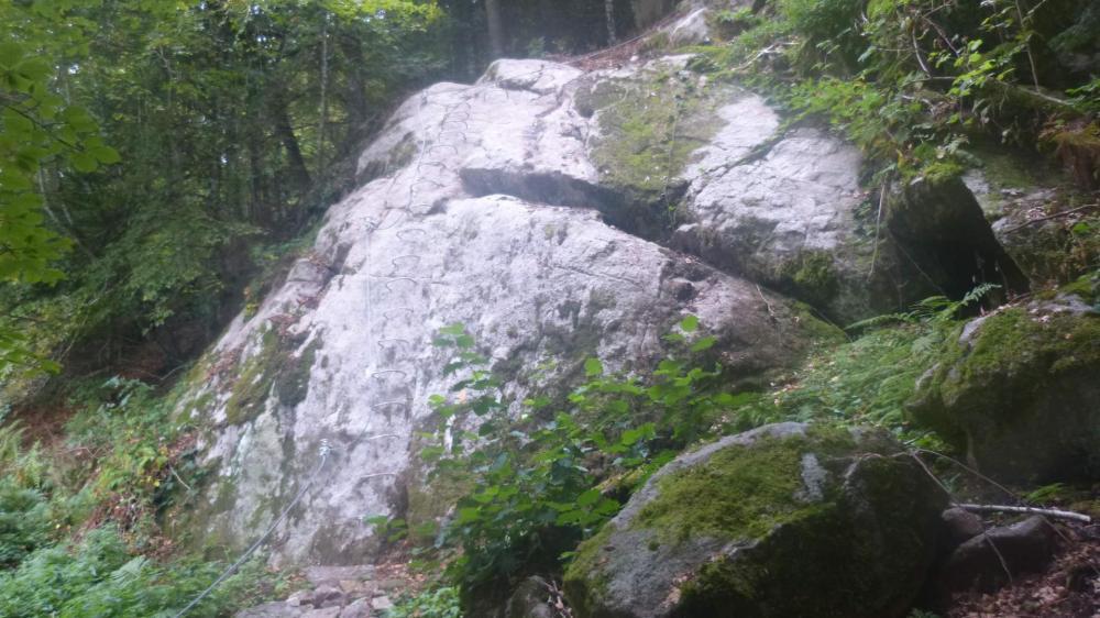 Départ de la via ferrata des rochers du Ronzier
