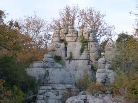 Les rochers ruiniformes de Païolive