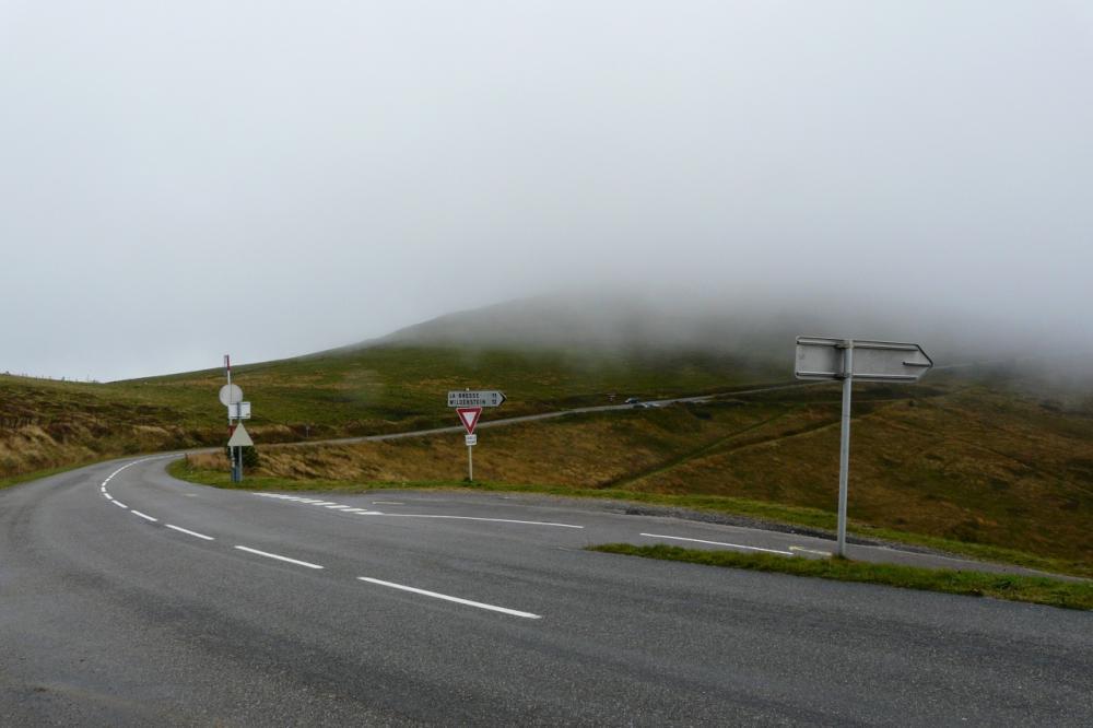 """Bifurcation route des crêtes, """"route des américains"""""""