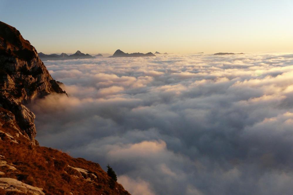 La mer de nuage au soleil couchant (Tournette)