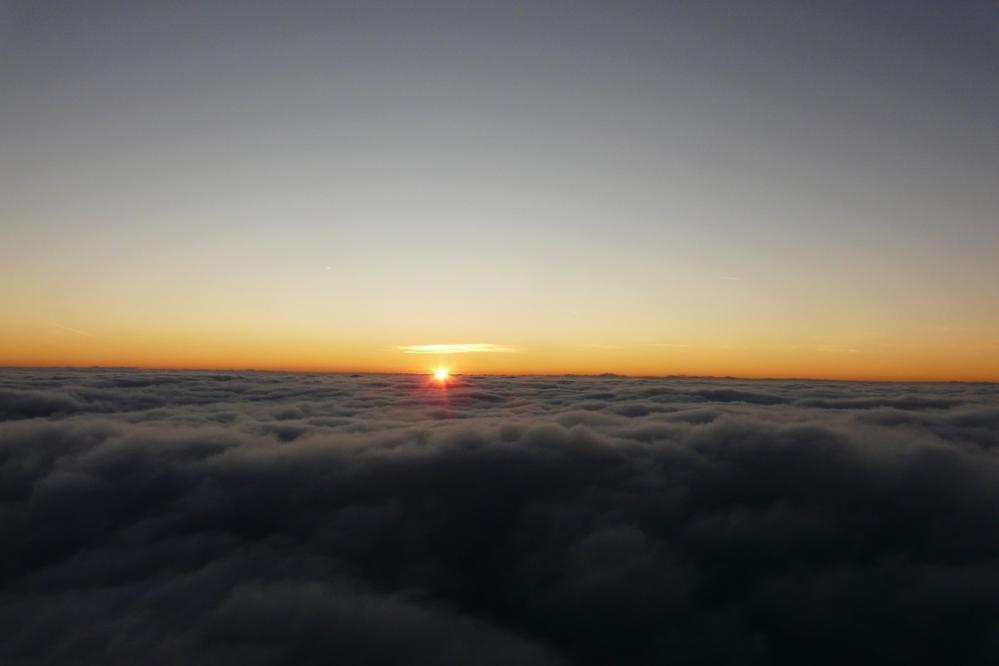 coucher de soleil depuis la Tournette (74)