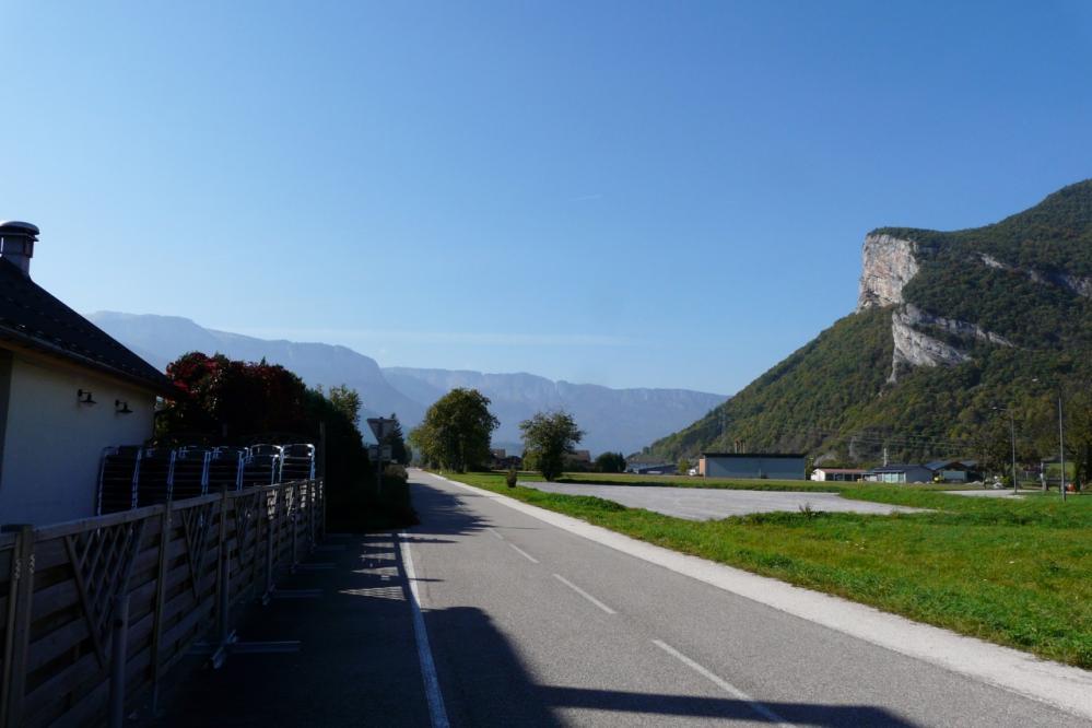 reprise de la piste cyclable à Faverges