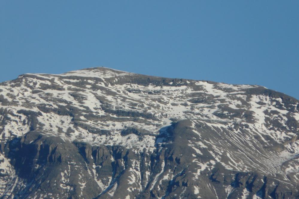 le sommet du buet vu au télé objectif depuis le plateau des Saix