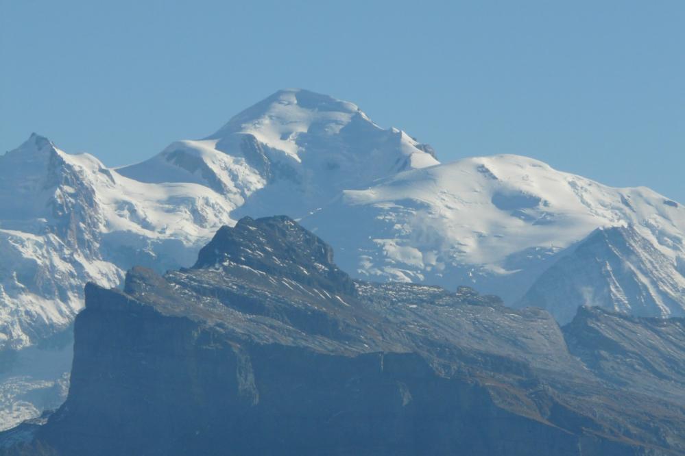Le Mont Blanc depuis le col de Joux Plane