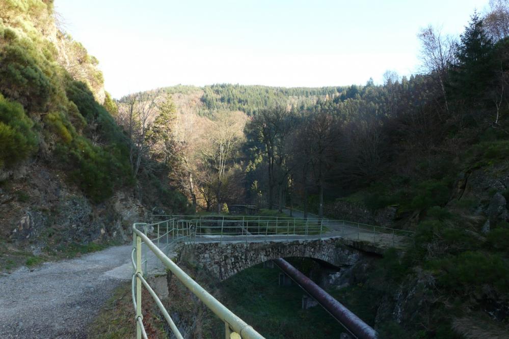 barrage de Planfoy, la conduite forcée
