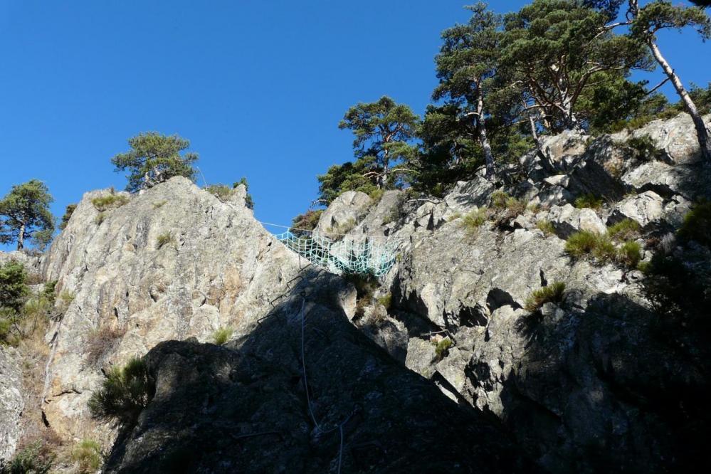 le haut du pilier de l' Echalette à la via des Juscles
