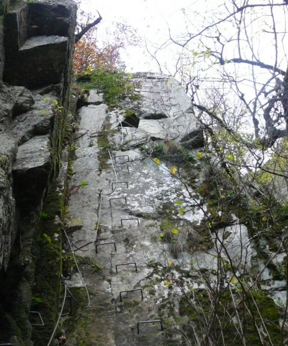 Encore un beau mur vertical (via des bois de Balthuergue)