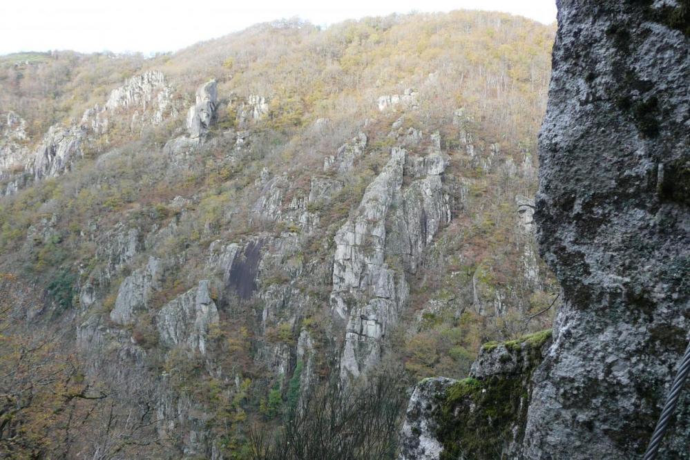 Le paysage des gorges de la Truyère (Ste geneviève sur Argence)