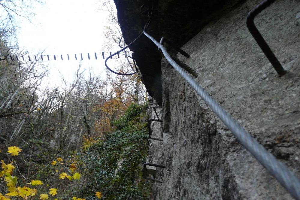 Le pont du frisson vu de dessous