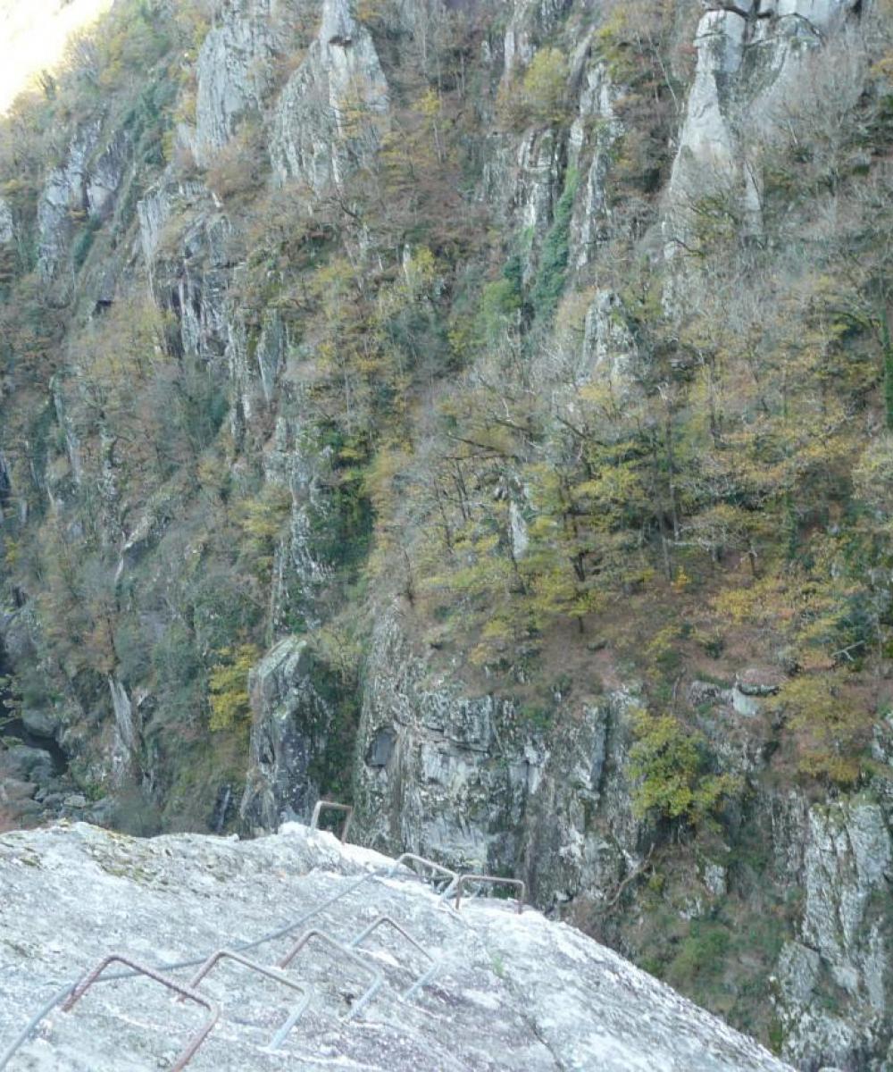 La sortie du pilier des jonquilles à la via des bois de Balthuergue
