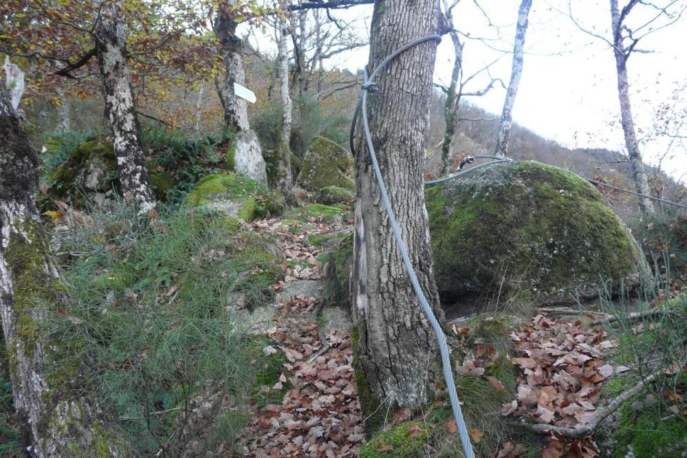 La sortie de la via des bois de Balthuergue
