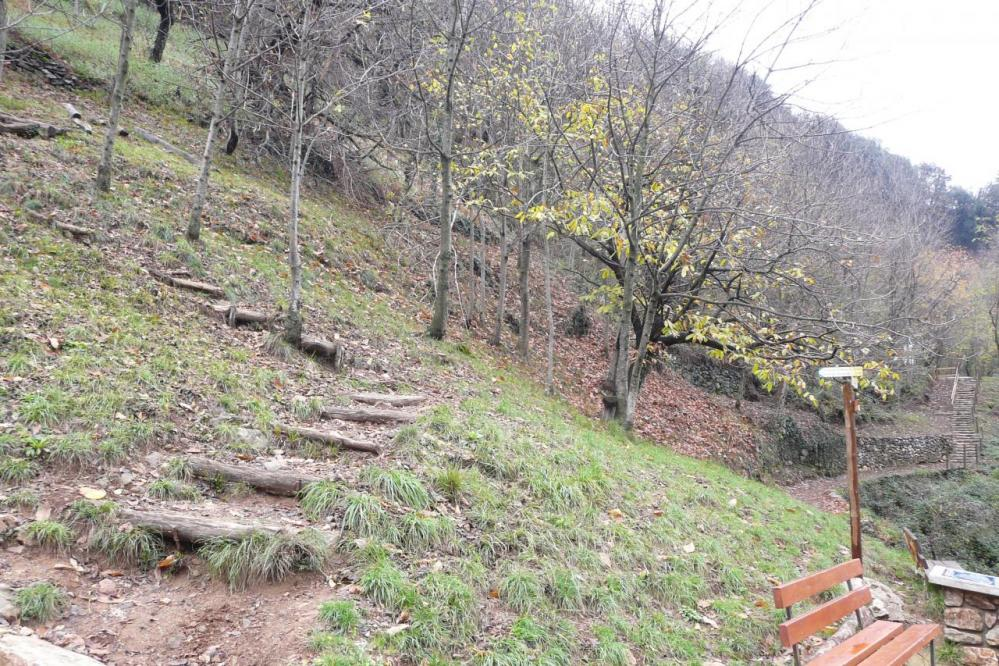 chemin d' accès à la via ferrata rive gauche