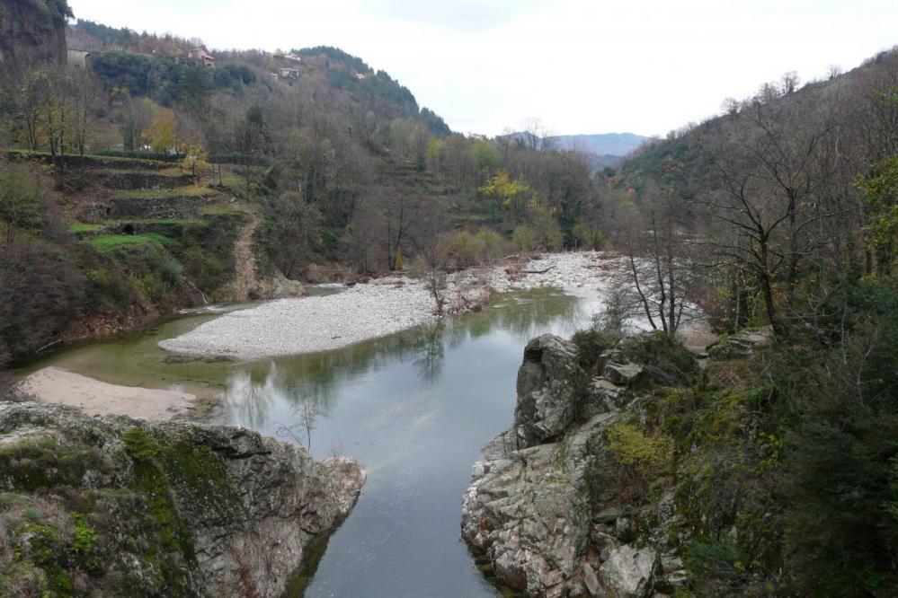 l' Ardèche en aval du pont du diable