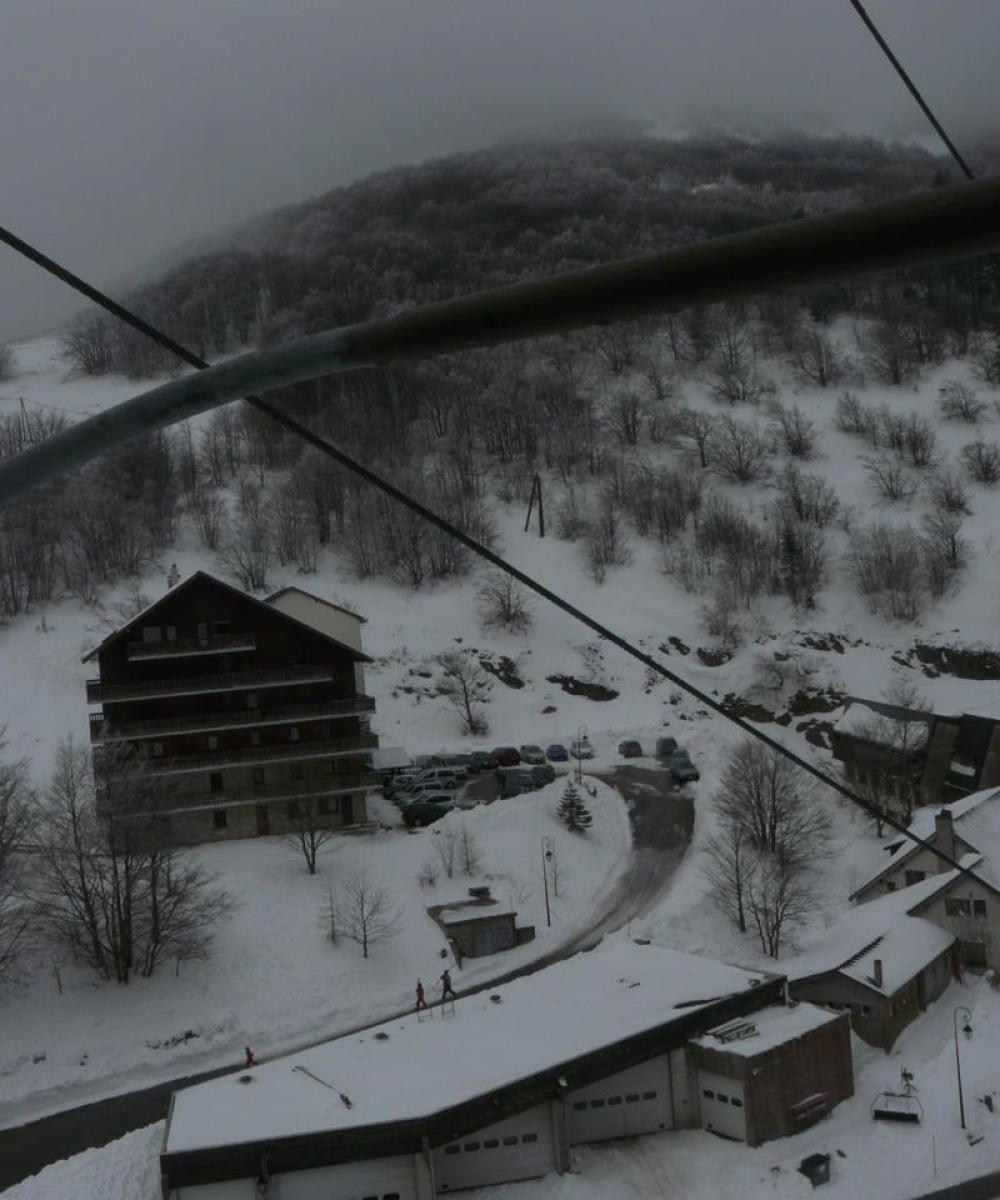 la station du col de Rousset vue du télésiège