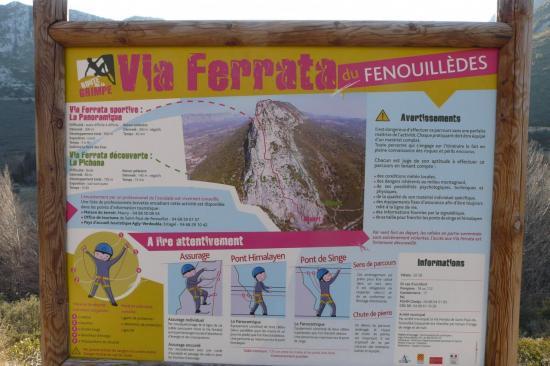 panneau d' info des  vias de St Paul de Fenouillet
