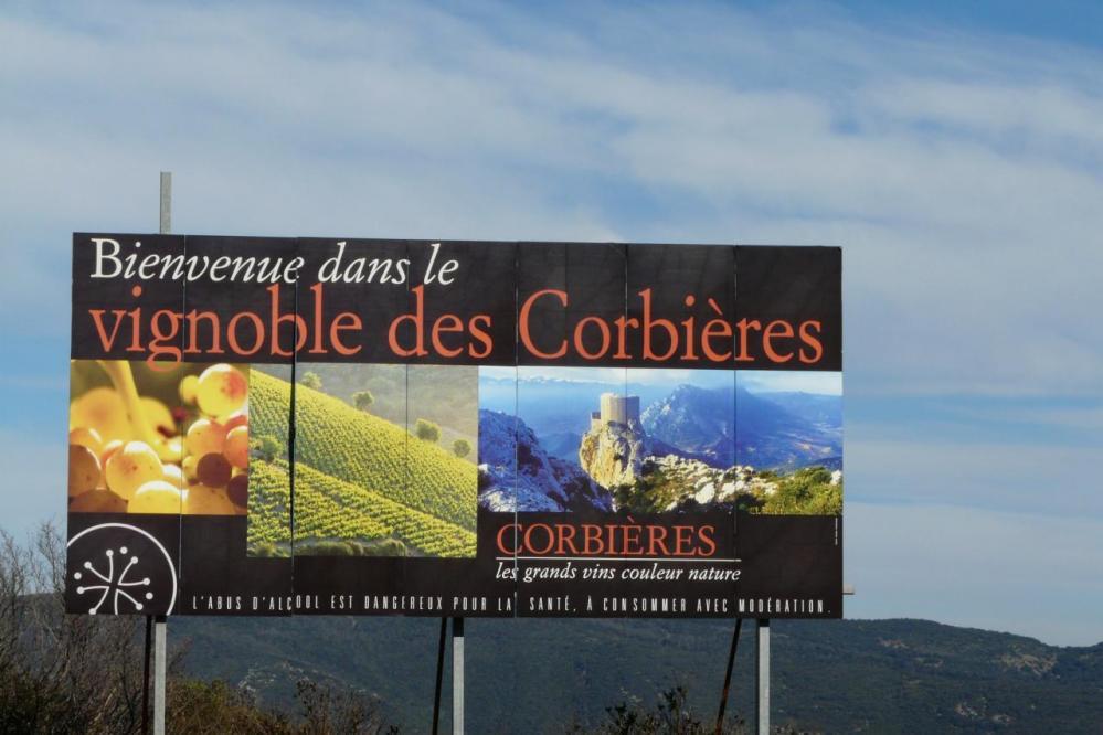 panneau d'info sur le vignoble de Cucugnan